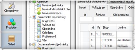 Administrace e-shopu